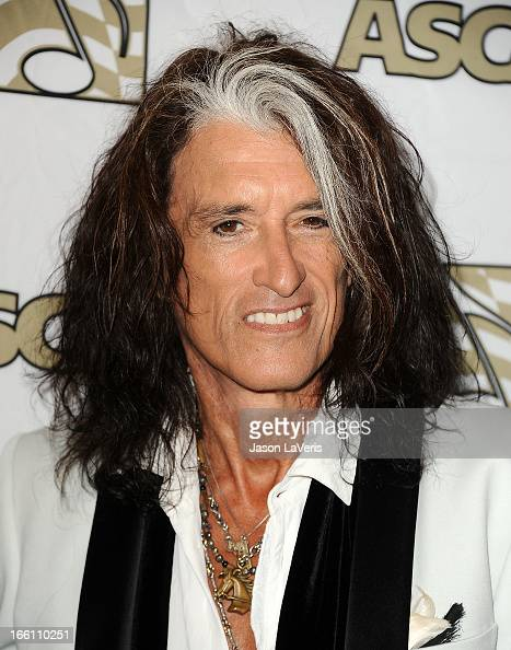 Joe Perry of Aerosmith attends a press conference and presentation of the ASCAP Founders Award at Sunset Marquis Hotel Villas on April 8 2013 in West...