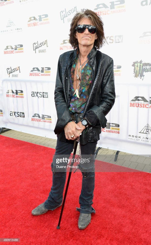 Joe Perry of Aerosmith attends the 2014 Gibson Brands AP Music Awards at the Rock and Roll Hall of Fame and Museum on July 21, 2014 in Cleveland, Ohio.