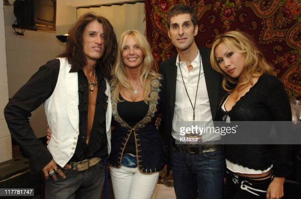 Joe Perry of Aerosmith Billie Perry Perry Farrell and wife Etty
