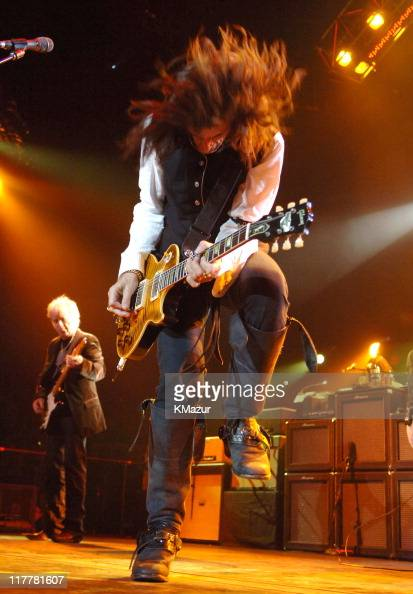 Joe Perry of Aerosmith during Aerosmith in Concert at Staples Center in Los Angeles February 22 2006 at Staples Center in Los Angeles California...