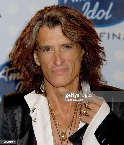 Joe Perry of Aerosmith during 'American Idol' Season 6 Finale Press Room at Kodak Theatre in Hollywood California United States