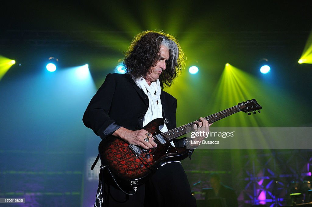 Joe Perry of Aerosmith performs at the Songwriters Hall of Fame 44th Annual Induction and Awards Dinner at the New York Marriott Marquis on June 13, 2013 in New York City.