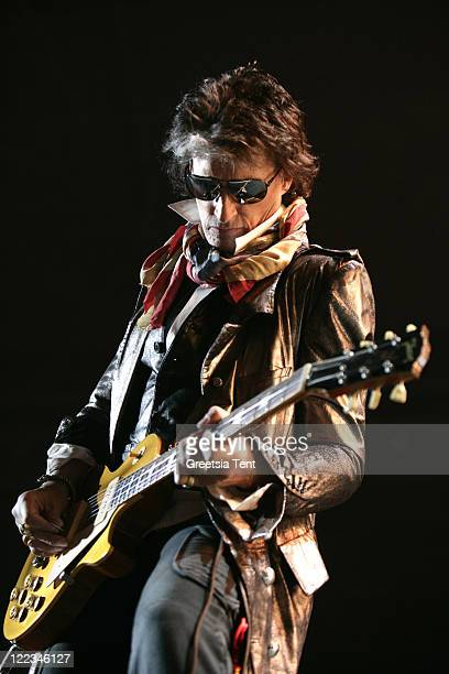 Joe Perry of Aerosmith performs live at Gelredome on June 23 2010 in Arnhem Netherlands