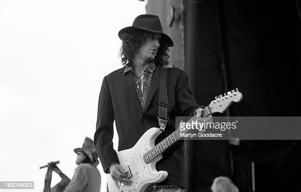 Joe Perry of Aerosmith performs on stage at Donington Park United Kingdom 1994