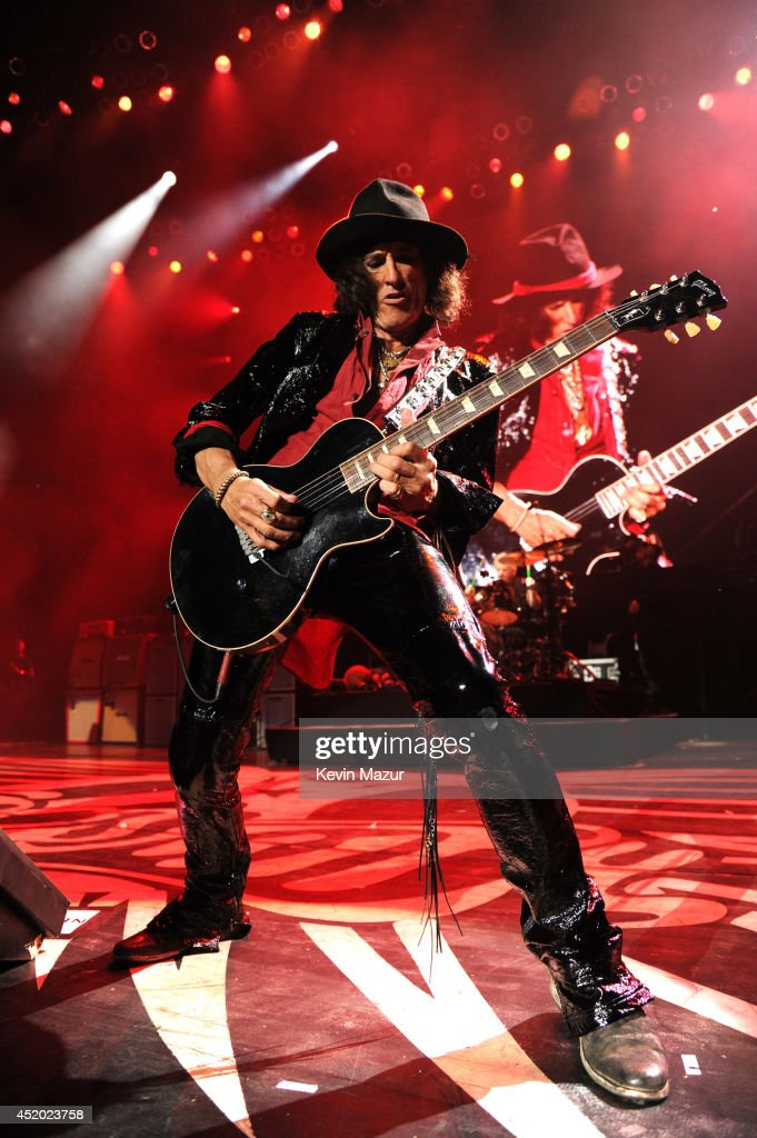 Joe Perry performs with Aerosmith at Nikon at Jones Beach Theater on July 10, 2014 in Wantagh, New York.