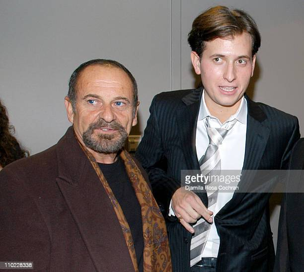 Joe Pesci and Peter Cincotti during Peter Cincotti Performance November 11 2004 at Rose Hall in New York City New York United States