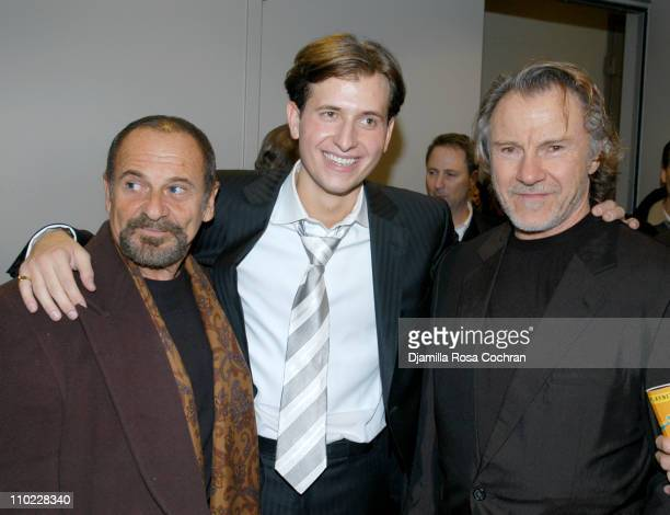 Joe Pesci Peter Cincotti and Harvey Keitel during Peter Cincotti Performance November 11 2004 at Rose Hall in New York City New York United States