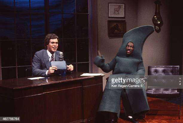 Joe Piscopo and Eddie Murphy are photographed on the set of Saturday Night Live in 1982 in New York City CREDIT MUST READ Ken Regan/Camera 5 via...