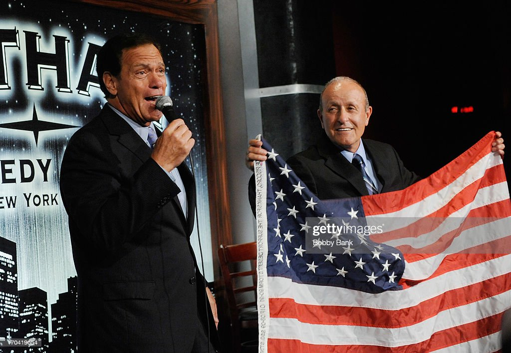 <a gi-track='captionPersonalityLinkClicked' href=/galleries/search?phrase=Joe+Piscopo&family=editorial&specificpeople=228495 ng-click='$event.stopPropagation()'>Joe Piscopo</a> and Founder of WTC Tribute Center, Lee Ielpi attends Laughter Saves Lives Comedy Night to Benefit The Tribute 9/11 Visitor Center at Gotham Comedy Club on June 12, 2013 in New York City.