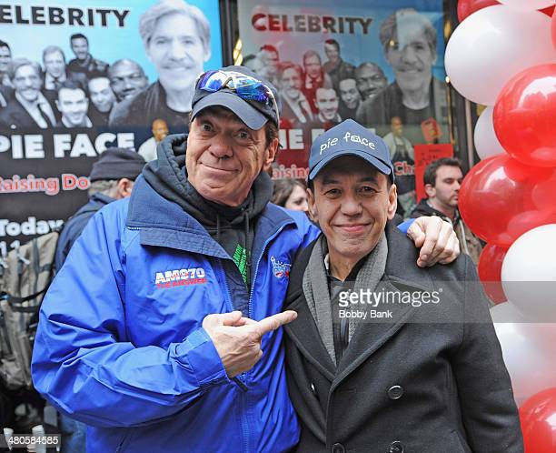 Joe Piscopo and Gilbert Gottfried on the set of 'Celebrity Apprentice' on March 25 2014 in New York City