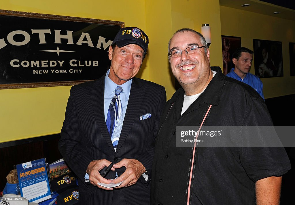 Joe Piscopo and J.J. Boyd attends Laughter Saves Lives Comedy Night to Benefit The Tribute 9/11 Visitor Center at Gotham Comedy Club on June 12, 2013 in New York City.