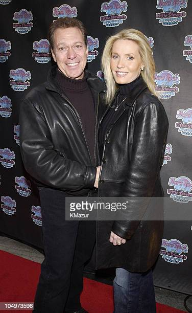 Joe Piscopo and wife Kimberly during Hard Rock Cafe Presents 'Little Steven's Underground Garage' radio show at the Hard Rock Cafe in NYC at Hard...