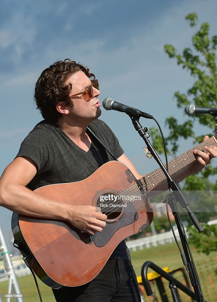Joe Pug performs during Americana's Cross County Lines at The Park at Harlinsdale Farm on May 31, 2014 in Franklin, Tennessee.
