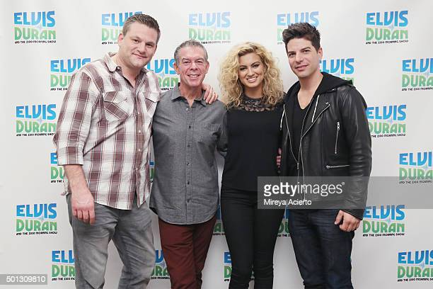 Joe Rainey Elvis Duran Tori Kelly and Mike Chester pose at Z100 Studio on December 14 2015 in New York City