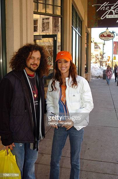 Joe Reitman and Shannon Elizabeth during 2005 Park City Seen Around Town Day 4 at Park City in Park City Utah United States