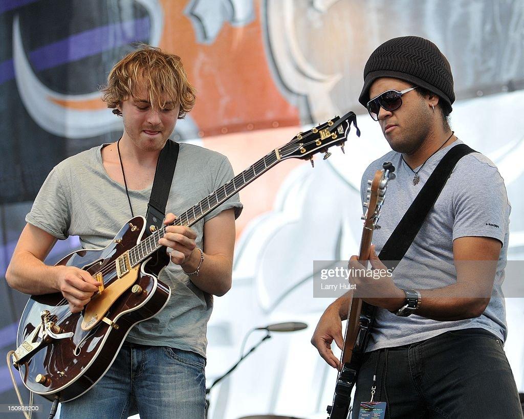 Joe Robinson and Marcelo Bakos performs at Guitartown in Copper Mountain Colorado on August 12 2012