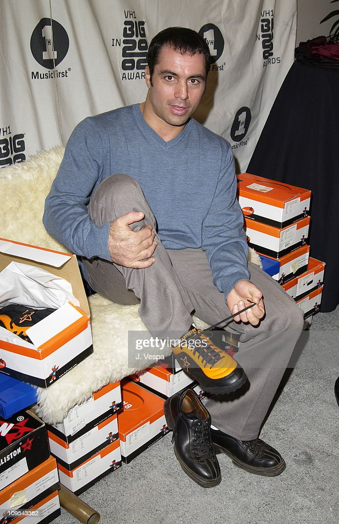 Joe Rogan with Baliston Shoes during VH1 Big in 2002 Awards - Backstage Creations Talent Retreat - Show Day at Grand Olympic Auditorium in Los Angeles, California, United States.