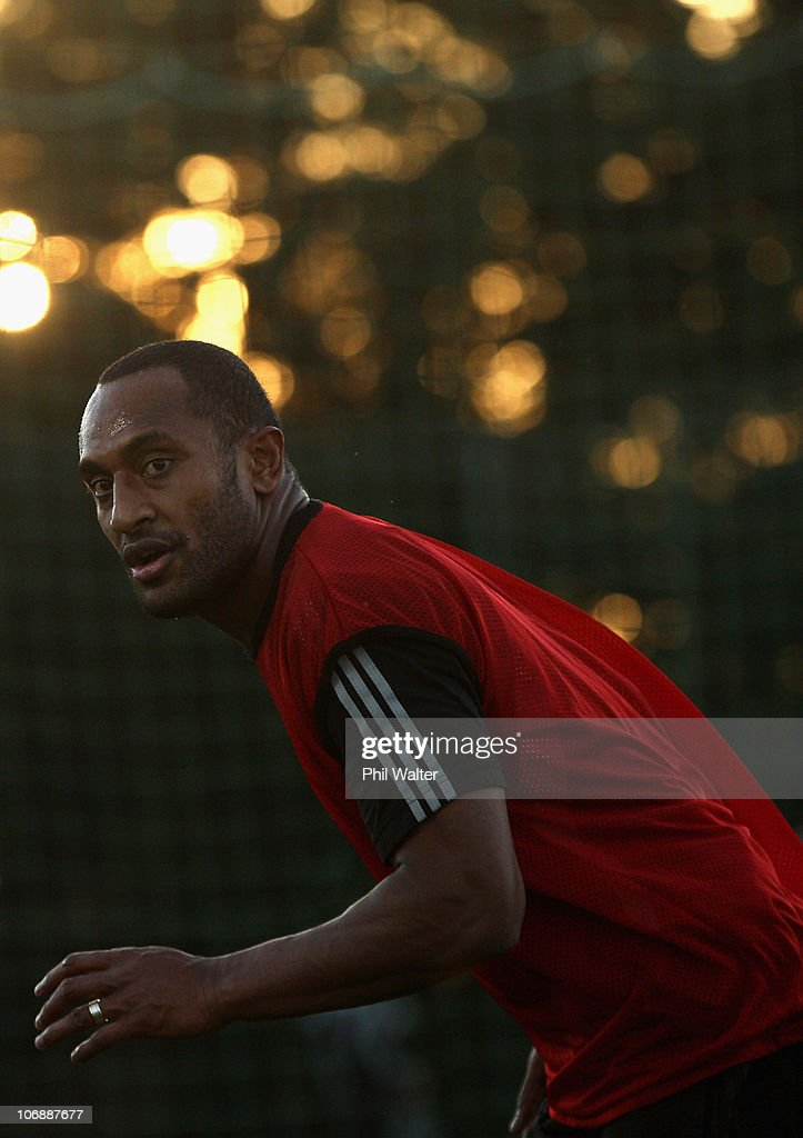 Joe Rokocoko of the All Blacks runs during a New Zealand All Blacks recovery session at Westmanstown on November 15 2010 in Dublin Ireland