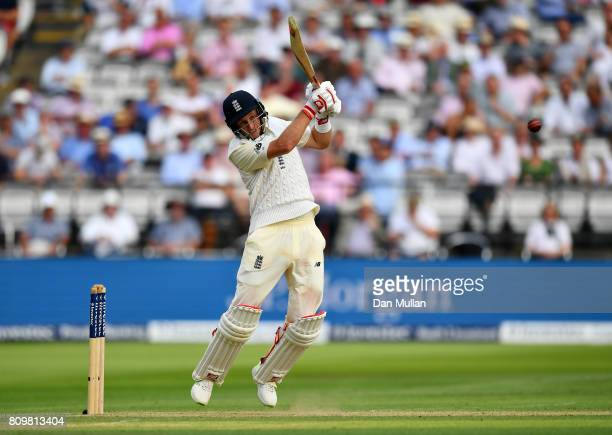 Joe Root of England bats during day one of the 1st Investec Test Match between England and South Africa at Lord's Cricket Ground on July 6 2017 in...