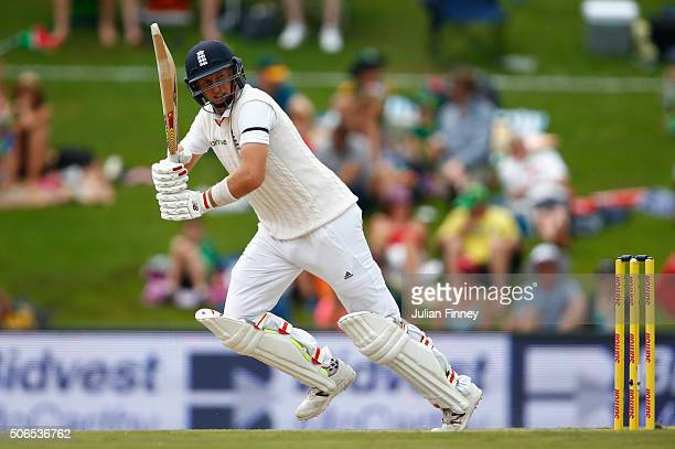 Joe Root of England bats during day three of the 4th Test at Supersport Park on January 24 2016 in Centurion South Africa