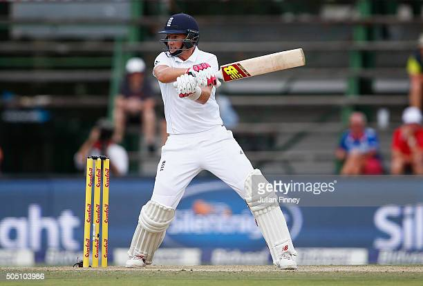 Joe Root of England bats during day two of the 3rd Test at Wanderers Stadium on January 15 2016 in Johannesburg South Africa