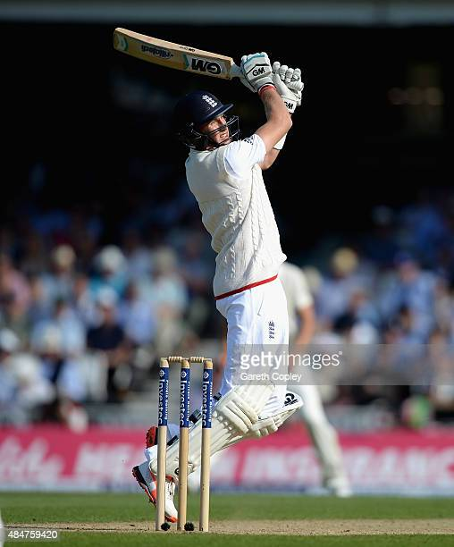 Joe Root of England bats during day two of the 5th Investec Ashes Test match between England and Australia at The Kia Oval on August 21 2015 in...