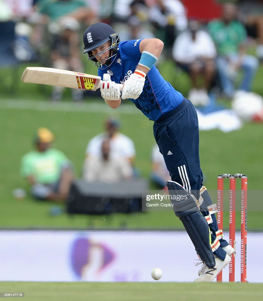 <a gi-track='captionPersonalityLinkClicked' href=/galleries/search?phrase=Joe+Root&family=editorial&specificpeople=6688996 ng-click='$event.stopPropagation()'>Joe Root</a> of England bats during the 3rd Momentum ODI match between South Africa and England at Supersport Park on February 9, 2016 in Centurion, South Africa.
