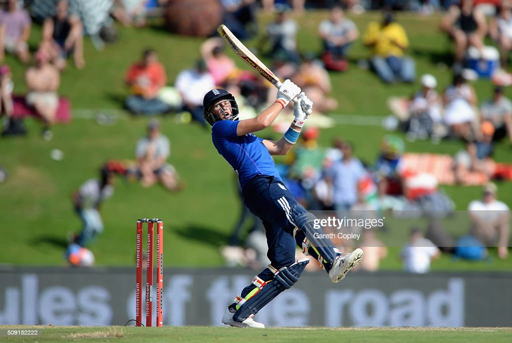 Joe Root of England bats during the 3rd Momentum ODI match between South Africa and England at Supersport Park on February 9, 2016 in Centurion, South Africa.
