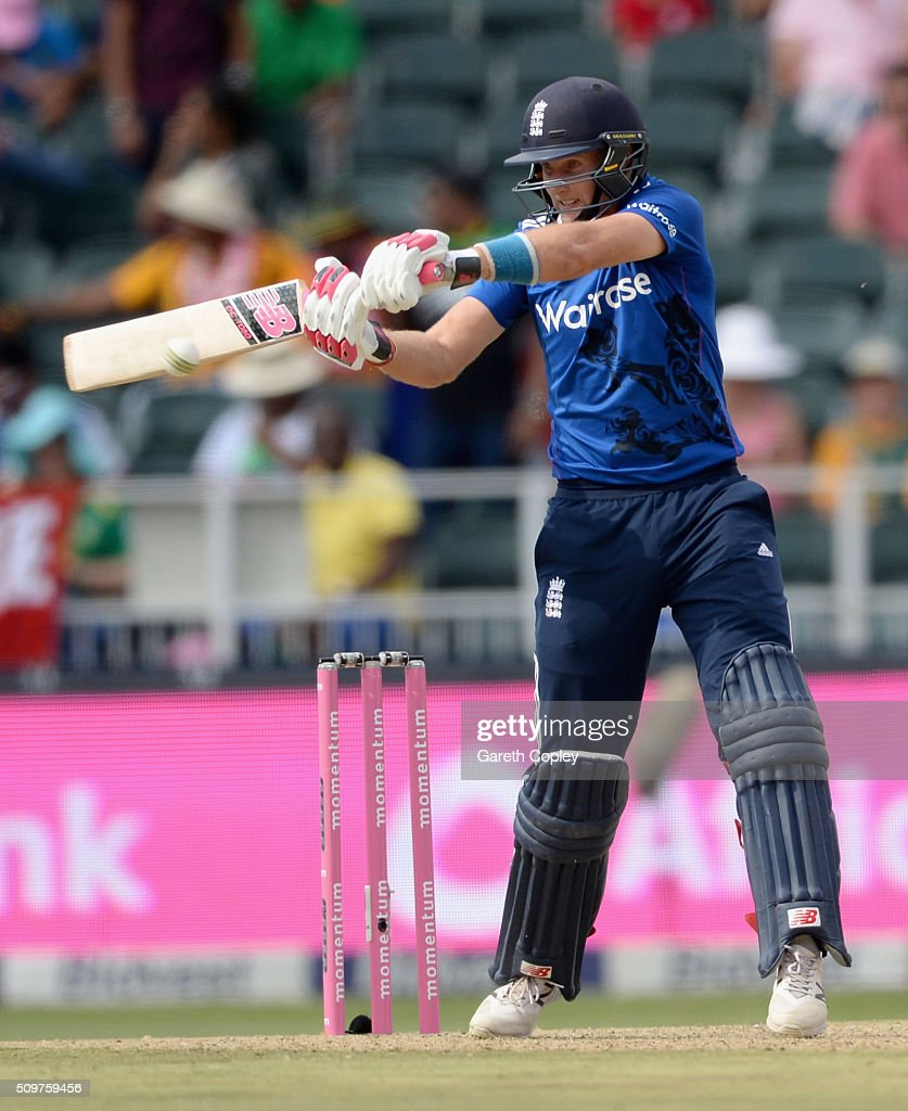 Joe Root of England bats during the 4th Momentum ODI between South Africa and England at Bidvest Wanderers Stadium on February 12, 2016 in Johannesburg, South Africa.