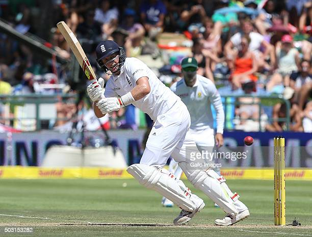 Joe Root of England during day 1 of the 2nd Test match between South Africa and England at PPC Newlands on January 02 2016 in Cape Town South Africa