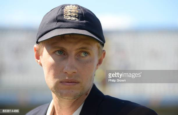 Joe Root of England looks on before the first day of the 1st Investec Test match between England and the West Indies at Edgbaston cricket ground on...