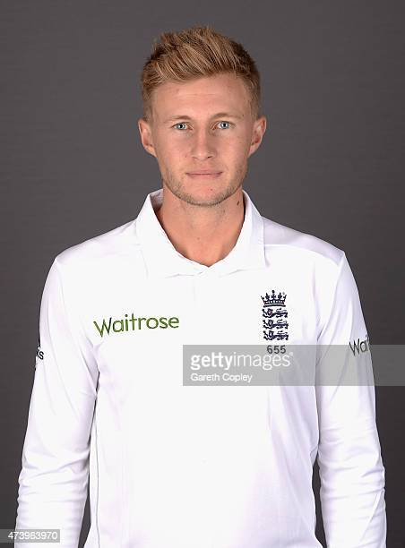 Joe Root of England poses for a portrait at Lord's Cricket Ground on May 19 2015 in London England