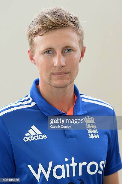 Joe Root of England poses for a portrait at Zayed Cricket Stadium on November 10 2015 in Abu Dhabi United Arab Emirates