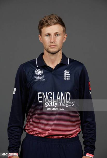 Joe Root of England poses for a portrait during the England Portrait session for the ICC Champions Trophy at Grange City on May 30 2017 in London...