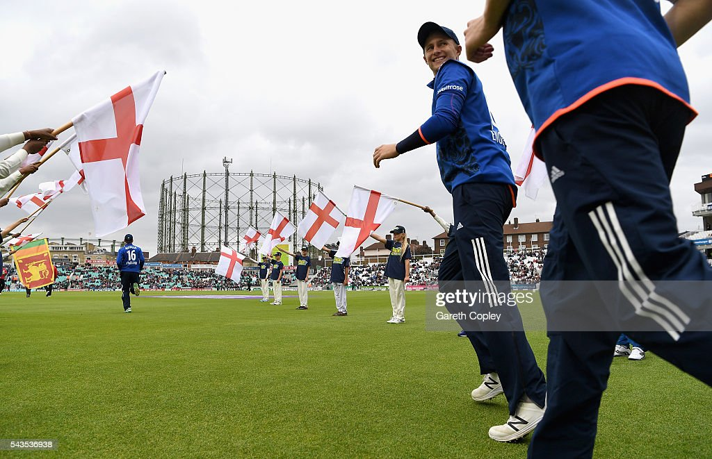 <a gi-track='captionPersonalityLinkClicked' href=/galleries/search?phrase=Joe+Root&family=editorial&specificpeople=6688996 ng-click='$event.stopPropagation()'>Joe Root</a> of England runs out ahead of the 4th ODI Royal London One Day International match between England and Sri Lanka at The Kia Oval on June 29, 2016 in London, England.