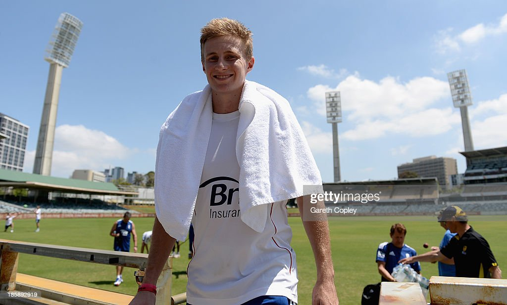 Joe Root of England walks back to the dressing rooms after a training session at WACA on October 26, 2013 in Perth, Australia.