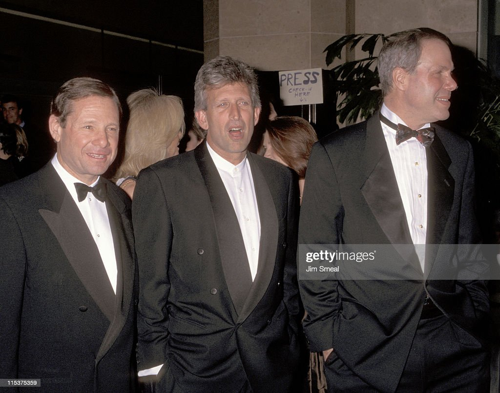Joe Roth Michael Ovitz and Michael Eisner during National Conference of Christians/Jews Honor Joe Roth at Beverly Hilton Hotel in Beverly Hills...