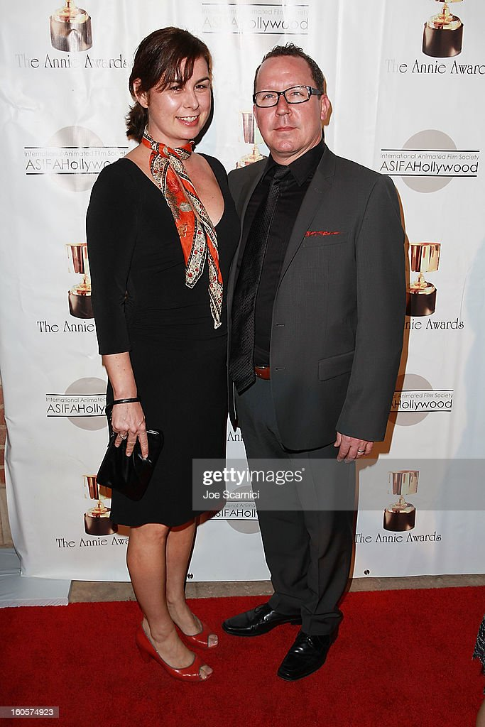 Joe Russo and date arrive at the 40th Annual Annie Awards at Royce Hall on the UCLA Campus on February 2, 2013 in Westwood, California.