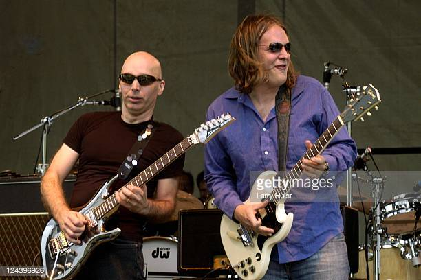 Joe Satriani and Joe Bonnamassa performs at Guitar Town in Copper Mountain Colorado on July 29 2006