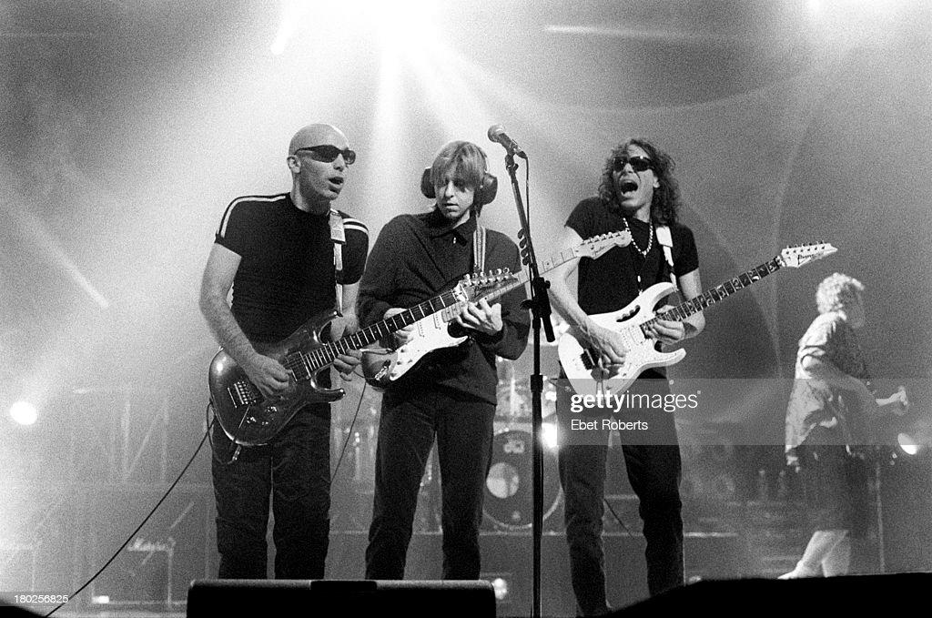 Joe Satriani Eric Johnson and Steve Vai perform at the Beacon Theatre in New York City on October 25 1996