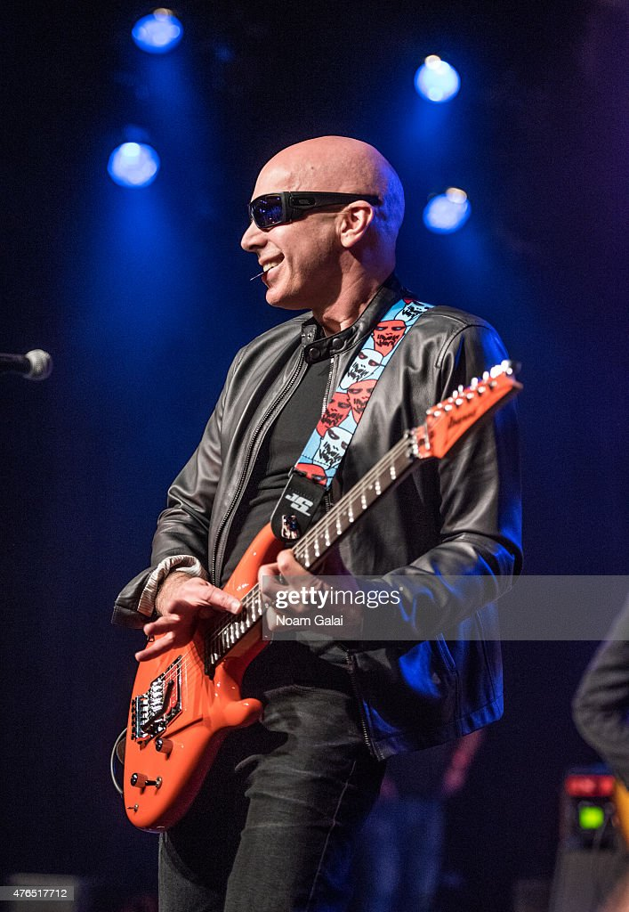 Joe Satriani performs during Les Paul's 100th anniversary celebration at Hard Rock Cafe - Times Square on June 9, 2015 in New York City.