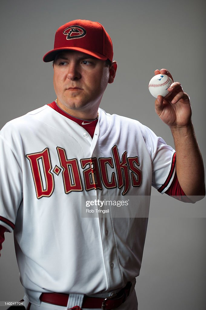 Joe Saunders #34 of the Arizona Diamondbacks poses during photo day at Salt River Fields at Talking Stick on March 1, 2012 in Scottsdale, Arizona.