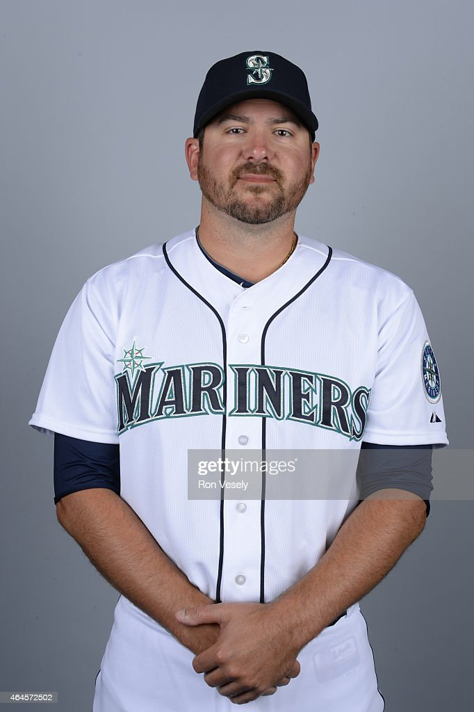 Joe Saunders #35 of the Seattle Mariners poses during Photo Day on Thursday, February 26, 2015 at the Peoria Sports Complex in Peoria, Arizona.