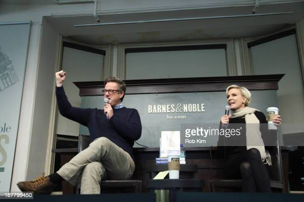 Joe Scarborough and Mika Brzezinski attend the 'The Right Path From Ike To Reagan How Republicans Once Mastered Politics And Can Again' book event on...