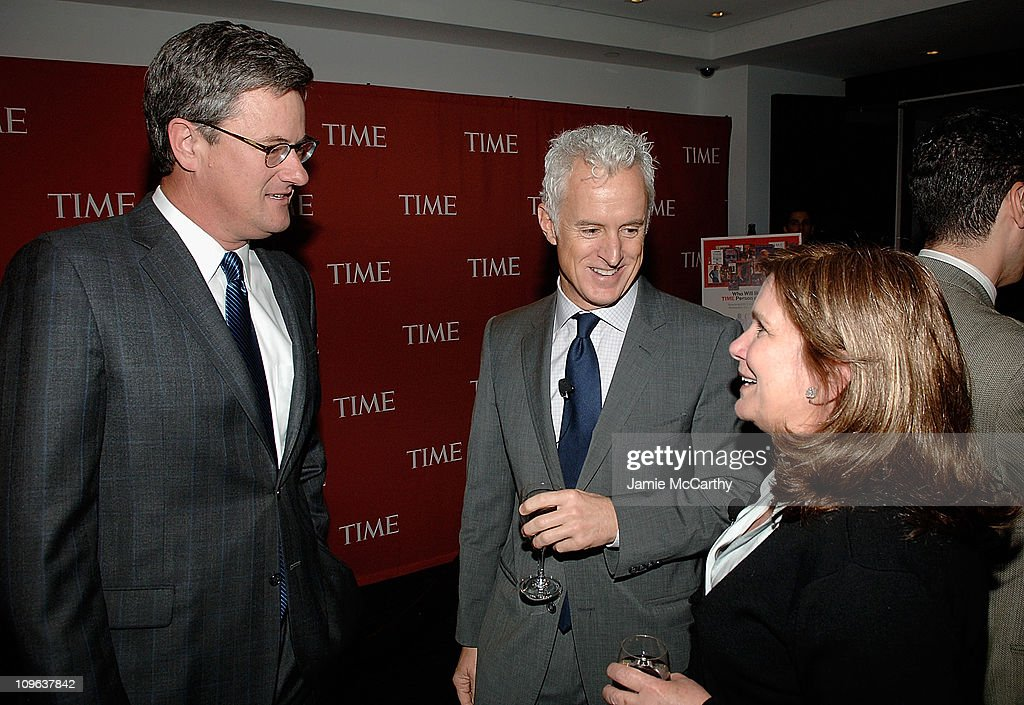 Joe ScarboroughJohn Slattery and Elizabeth Edwards attend TIME's Person of the Year Luncheon at Time Life Building on November 13 2008 in New York...
