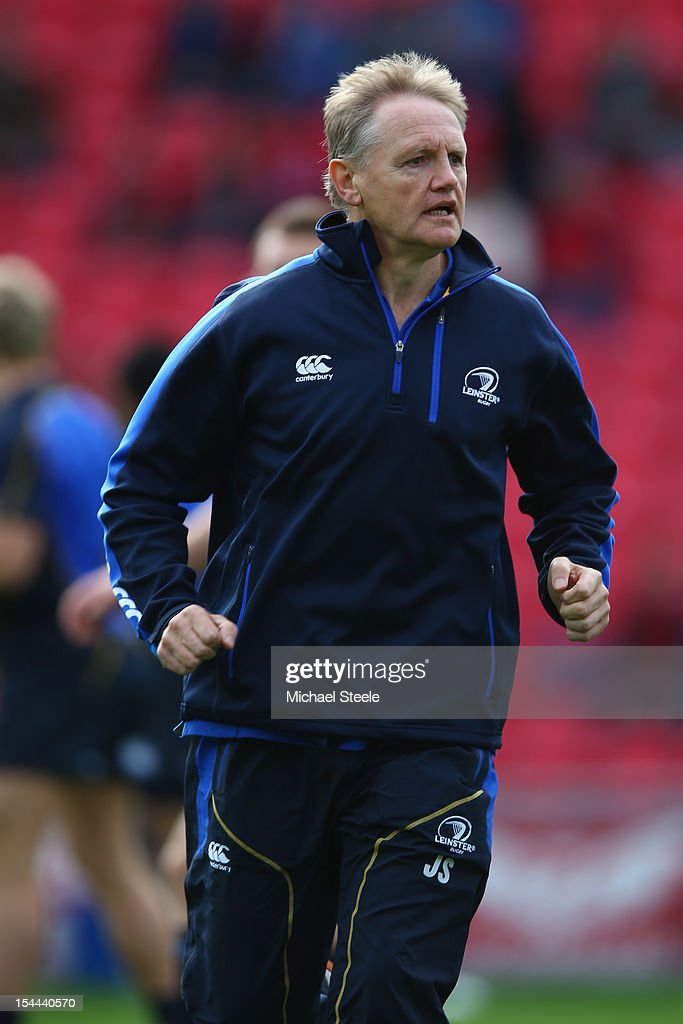 Joe Schmidt Head Coach of Leinster during the Heineken Cup Pool 5 match between Scarlets and Leinster at Parc y Scarlets on October 20, 2012 in Llanelli, Wales.