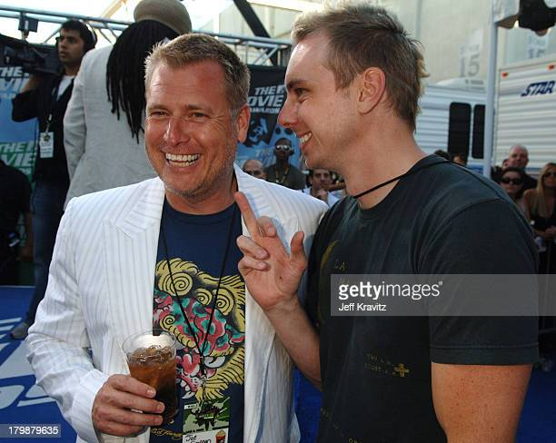 Joe Simpson and Dax Shepard during 2006 MTV Movie Awards Red Carpet at Sony Studios in Culver City California United States