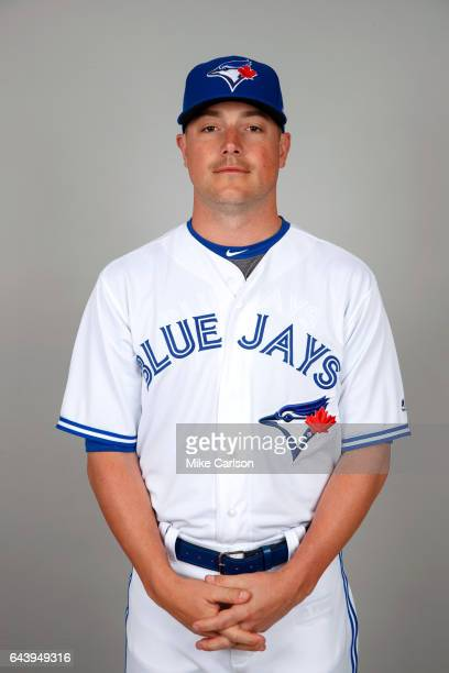 Joe Smith of the Toronto Blue Jays poses during Photo Day on Tuesday February 21 2017 at Florida Auto Exchange Stadium in Dunedin Florida