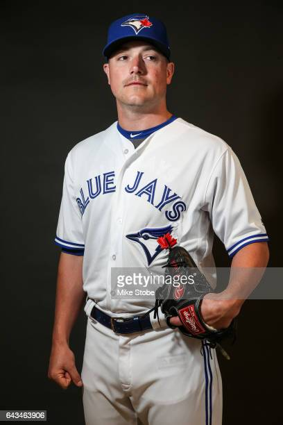 Joe Smith of the Toronto Blue Jays poses for a portait during a MLB photo day at Florida Auto Exchange Stadium on February 21 2017 in Dunedin Florida