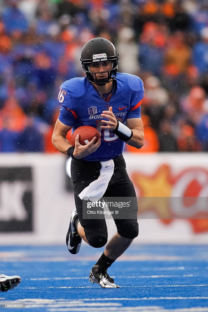 Joe Southwick of the Boise State Broncos runs the ball against the Colorado State Rams at Bronco Stadium on November 17 2012 in Boise Idaho